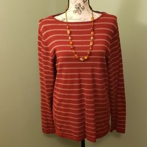 Red top with stripes